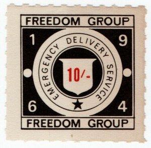 (I.B) Cinderella Collection : Strike Post 10/- (Freedom Group 1964)