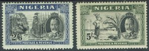 NIGERIA 1936 KGV PICTORIAL 2/6 AND 5/-