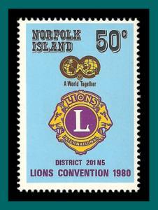 Norfolk Island 1980 Lions Convention, MNH  254,SG234