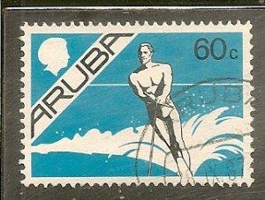 Aruba   Scott 9   Water Skiing   Used