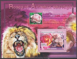 2007 Guinea 4728/B1174 Rose and monkey 7,00 €