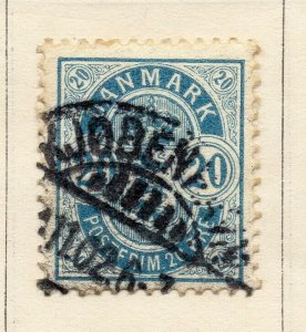 Denmark 1875 Early Issue Fine Used 20ore. NW-113856
