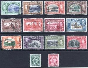 Trinidad & Tobago 1938 1c-$4.80 Pictorial SG 246-256 Sc 50-61 VFU Cat £60($77)