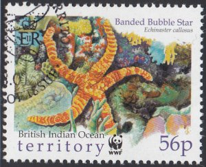 BIOT 2001 used Sc #234 56p Banded bubble star Starfish WWF