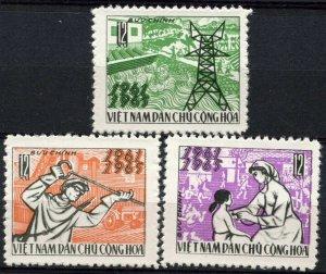 Vietnam 1965 MNH Stamps Scott 375-377 Medicine Health Electricity Irrigation