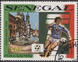 Senegal 879 (used cto) 140f soccer / football, Italia '90