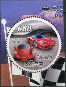 Korea 2008. Automobile Ferrari Enzo 2003-2005 (MNH OG) Stamp