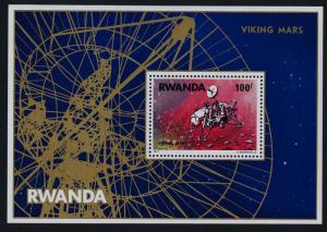 Rwanda 827 MNH Space, Viking landing on Mars