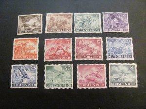 GERMANY 1943 MNH SC# B218-229  WAR  SET   (113)