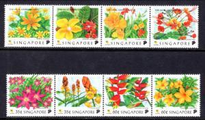Singapore 865a,869a Flowers MNH VF