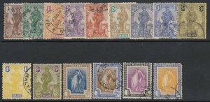 Malta Sc 98-112 (SG 143-155), used (part set)