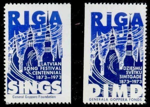 Latvia 1973 Song Festival Poster Stamps