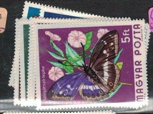 Hungary Butterfly SC 2313-19 MNH (1euu)