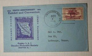 TRans Mississppi Convention Omaha NE Philatelic Cachet Cover 1943