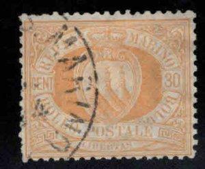 San Marino Scott 16 Used 1892 stamp
