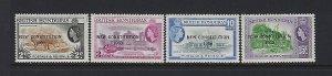 BRITISH HONDURAS SCOTT #159-162 1961 OVERPRINTED NEW CONSTITUTION  - MINT LH