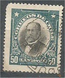 CHILE, 1911, used 50c, Zanartu, Scott 108