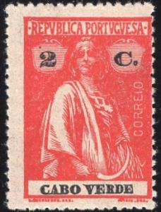 Cape Verde 167 - Mint-H - 2c Ceres (Perf 15x14) (1916)