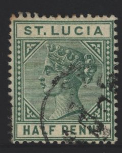St Lucia Sc#27 Used