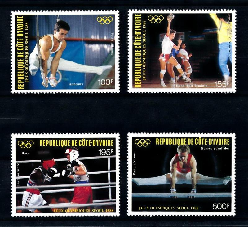[92157] Ivory Coast 1988 Olympic Games Seoul Gymnastics Boxing Handball  MNH