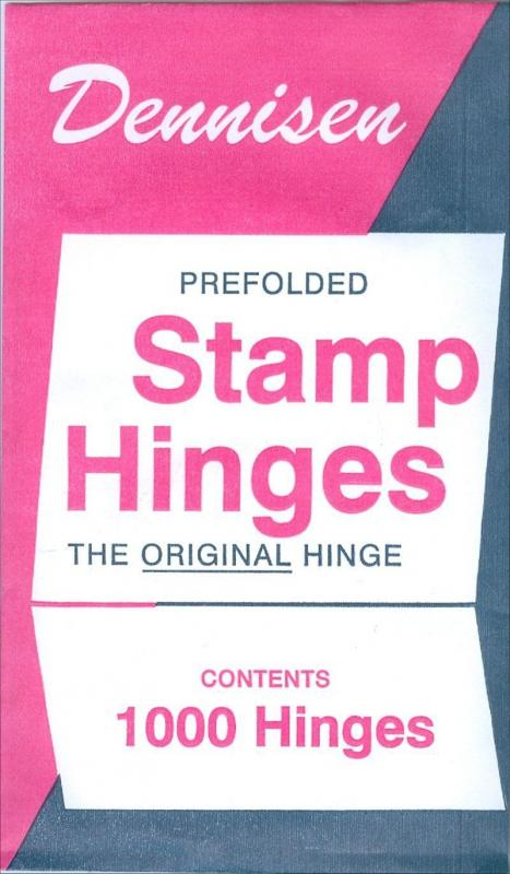DENNISEN Prefolded Stamp HINGES 5 Packs of 1000