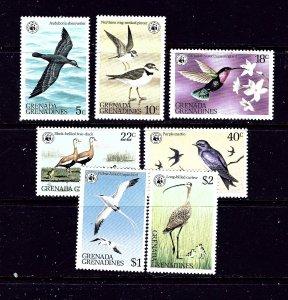 Grenada-Grenada 290-96 MNH 1978 Birds