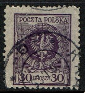 Poland Scott 223 Used (1924) Polish Eagle
