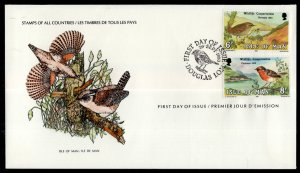 Isle of Man 182-183 Birds U/A FDC