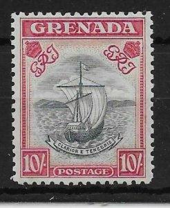 GRENADA SG163c 1943 10/= SLATE-BLUE & BRIGHT CARMINE p12 MNH