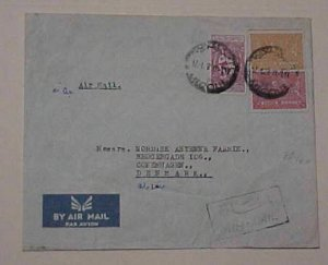SAUDI ARABIA MECQUE ON SMALL COVER 1958 TO DENMARK
