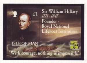 Isle of Man Sc 823 1999 Hillary Lifeboats stamp sheet mint NH
