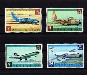 ASCENSION - 1975 - AIRCRAFT - WIDEAWAKE AIRFIELD - C-130 - VC-10 + MINT MNH SET!