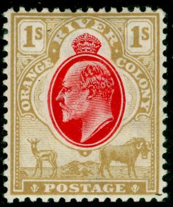 SOUTH AFRICA - Orange Free State SG146, 1s scarlet & bistre, M MINT. Cat £50. CA
