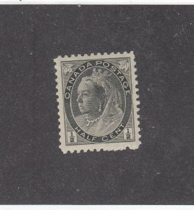 CANADA (KSG801) # 74  VF-MNH  1/2cts  QV NUMERAL ISSUE /BLACK CAT VALUE $60