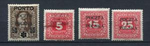 Poland/Austria 1919 Mi 1 3 5.12 MH Overprint Numerical (1 Stamp Is Signed)