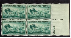 939 Mint,OG,NH... Block of 4 w/Plate#... SCV $1.00