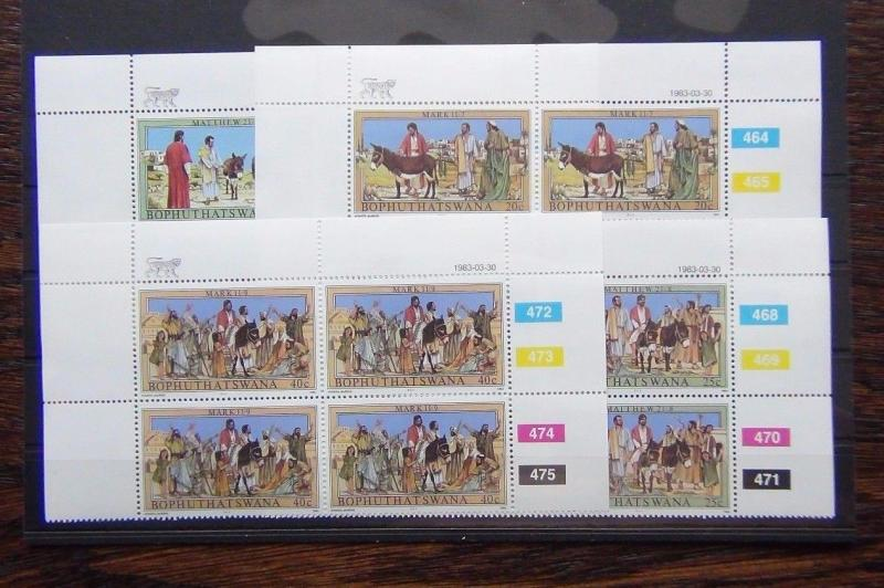 Bophuthatswana 1983 Easter Palm Sunday set in block x 4 MNH