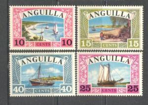 ANGUILLA Sc# 32 - 35 MNH FVF Set of 4 Sailboats