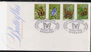 Great Britain 1981 Butterflies set of 4 on illustrated PO...