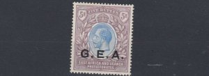 TANGANYIKA   1921      S G  68  5R    OLIVE &  DULL PURPLE  MH     CAT £180