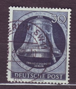 J23181 JLstamps 1951-2 berlin germany hv of set used #9n78 bell clapper right