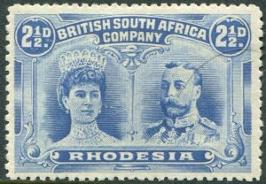RHODESIA-1910-13 2½d Dull Blue Sg 132 MOUNTED MINT V48389