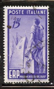 Italy # 516, Used. CV $ 24.00,  See Discription