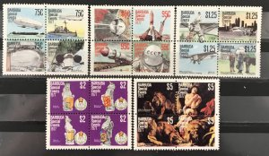 Barbuda 1977 #318-22 Block of 4, MNH, CV $12.25