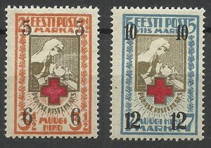 1926 Estonia 60-61 Overprint # 29-30 14,00 €