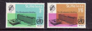 St Helena-Sc#190-1-unused NH set-Omnibus-WHO Issue-1966-