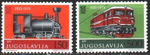 Yugoslavia. 1972. 1469-70. The trains. MVLH.