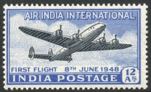 INDIA-1948 12a Air Sg 304 UNMOUNTED MINT V42312