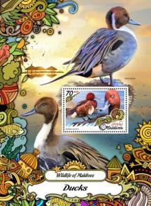 MALDIVES 2017 SHEET DUCKS BIRDS mld17202b