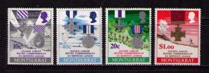 MONTSERRAT Sc# 260 - 263 USED FVF Set4 Military Cross Medals